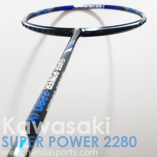 川崎 Kawasaki SUPER POWER 2280 IV 羽球拍 藍